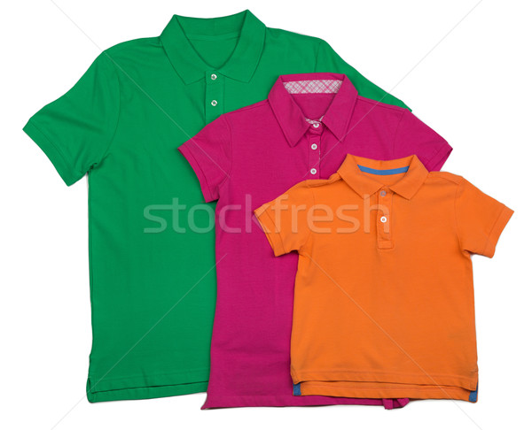 polo shirt template in colors isolated on white Stock photo © RuslanOmega
