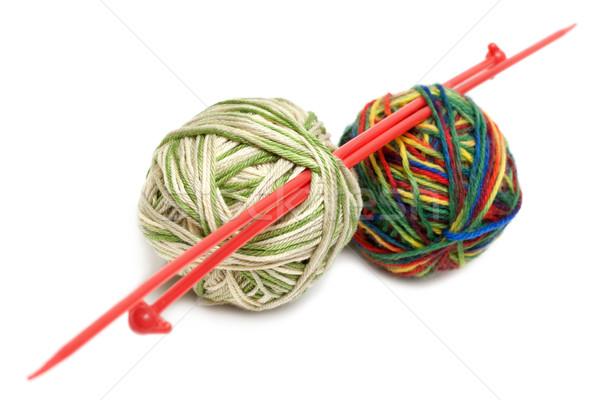 Two balls for knitting Stock photo © RuslanOmega