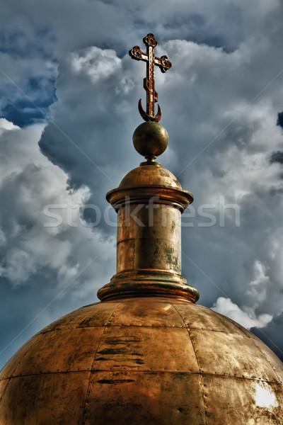 golden dome of the church Stock photo © RuslanOmega