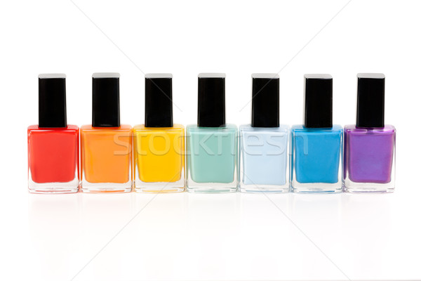 seven bottles of nail varnish Stock photo © RuslanOmega