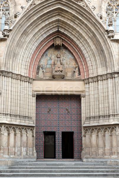 Igreja Barcelona portão edifícios pedra Foto stock © RuslanOmega