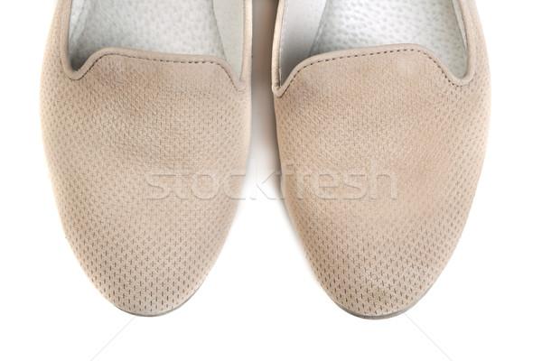 Par sapatos luz branco menina Foto stock © RuslanOmega