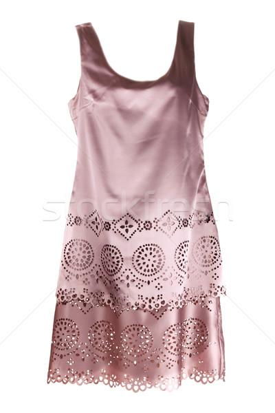 Beige satin gown Stock photo © RuslanOmega