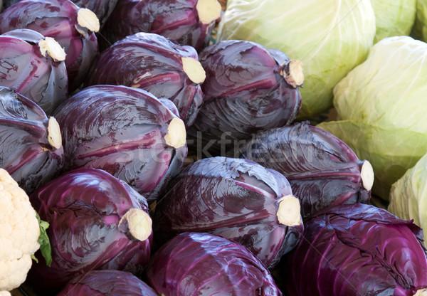 青 白 キャベツ ディナー 頭 野菜 ストックフォト © RuslanOmega