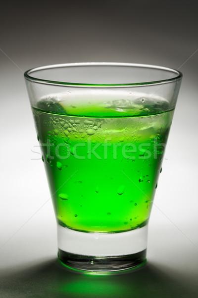 Glas mojito creatieve verlichting partij zomer Stockfoto © RuslanOmega