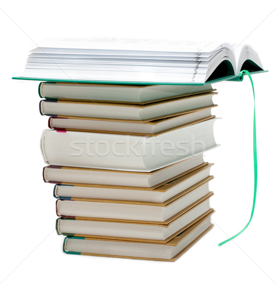 Pile of the books, openning book up Stock photo © RuslanOmega