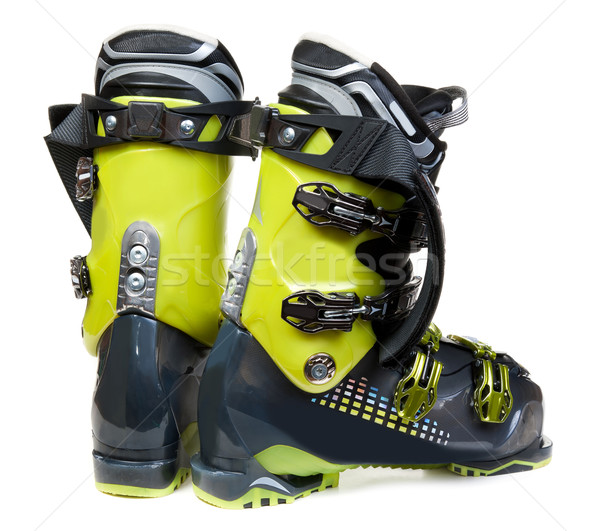 Pair green-dark ski shoe Stock photo © RuslanOmega