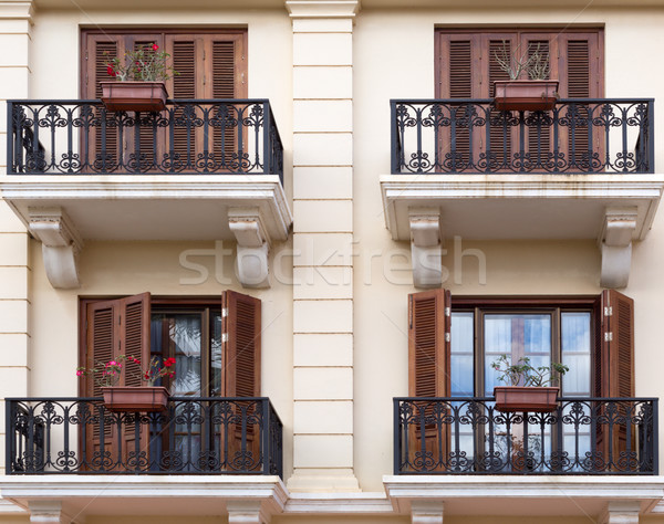 facade with balconies Stock photo © RuslanOmega