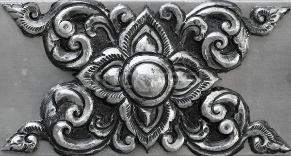 simple ornament, minted in silver Stock photo © RuslanOmega