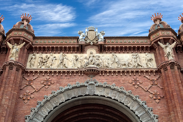 triumphal arch in Barcelona Stock photo © RuslanOmega