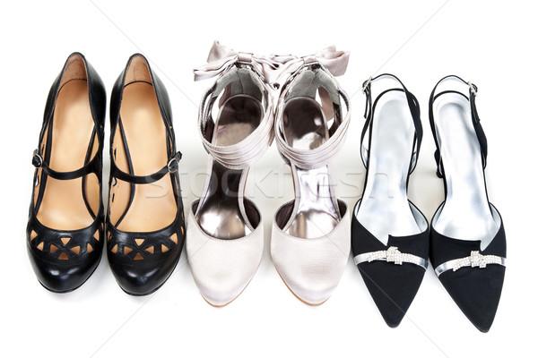 üç ayakkabı beyaz moda arka plan kırmızı Stok fotoğraf © RuslanOmega