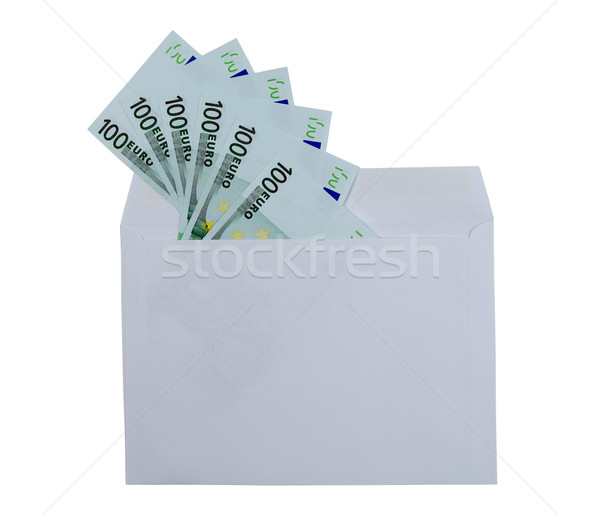 Denominations of 100 euros from the envelope Stock photo © RuslanOmega