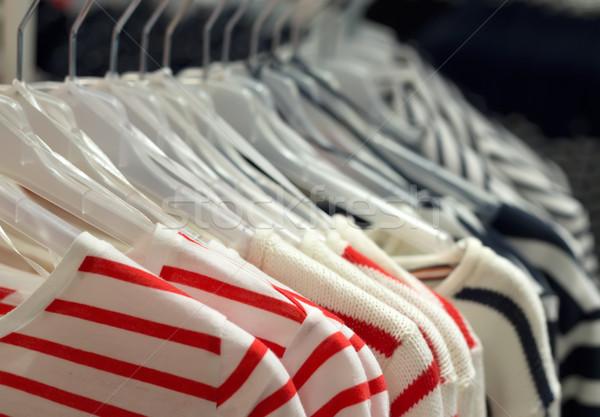 Divatos ruházat divat kék piros piac Stock fotó © RuslanOmega