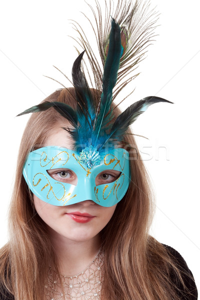 girl in the blue masquerade mask Stock photo © RuslanOmega