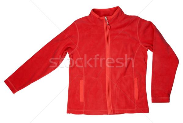 Red fleece jacket Stock photo © RuslanOmega