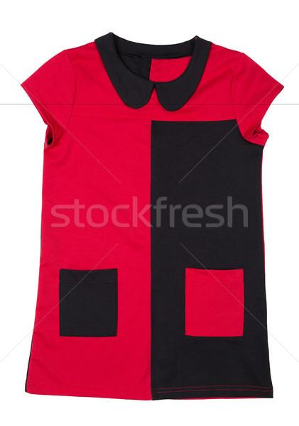 Stockfoto: Modieus · tuniek · schoonheid · Rood · kleur · vrouwelijke