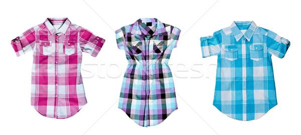 collage of the three checkered shirt Stock photo © RuslanOmega
