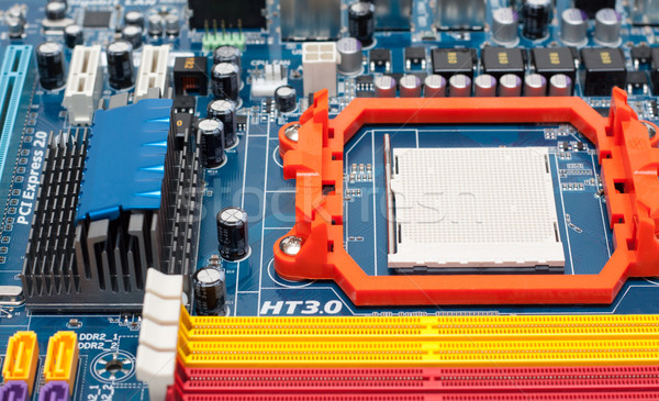 Microprocessor, slots for memory Stock photo © RuslanOmega