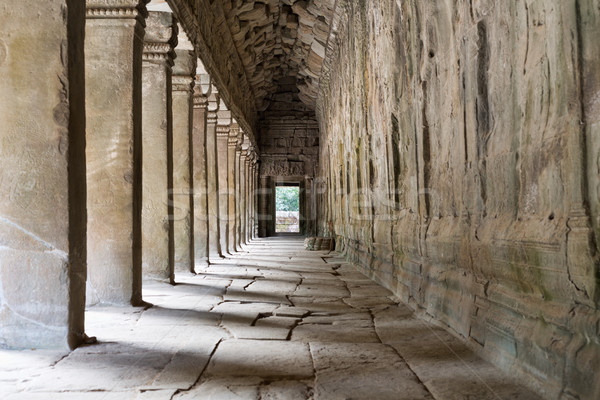 Outer Corridor of Angkor Wat, Cambodia Stock photo © RuslanOmega