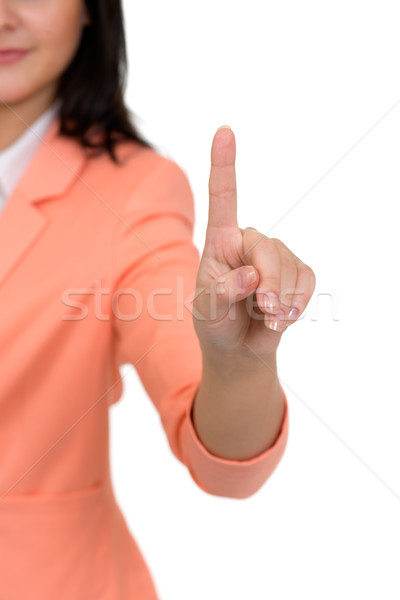 girl shows the index finger Stock photo © RuslanOmega