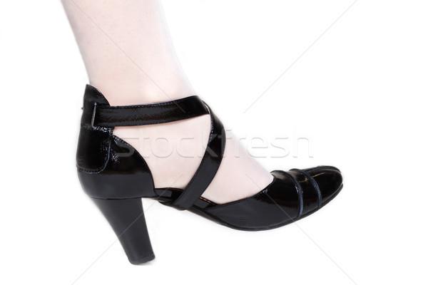 Feminino em branco meia-calça preto menina Foto stock © RuslanOmega