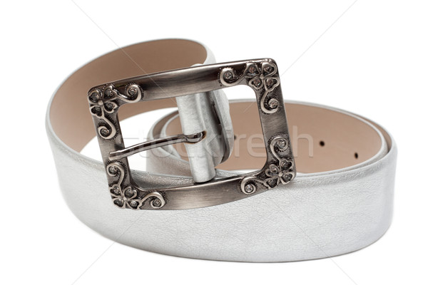 Leather silvery feminine belt Stock photo © RuslanOmega