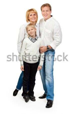 Portrait of a happy family of three Stock photo © RuslanOmega