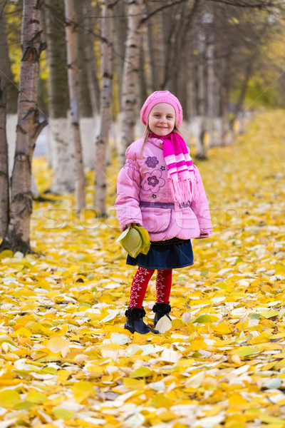 Little girl outdoors in autumn park Stock photo © RuslanOmega
