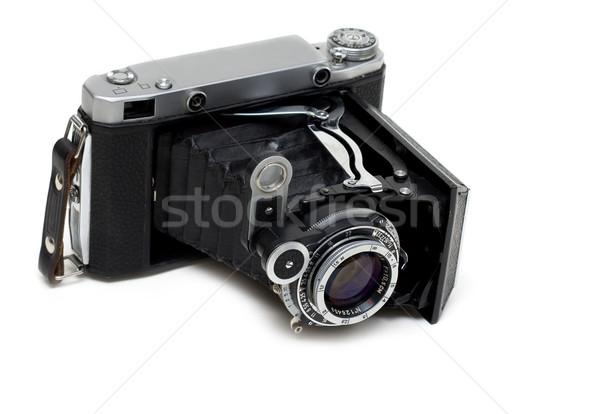 Vieillissement photo caméra blanche film noir Photo stock © RuslanOmega