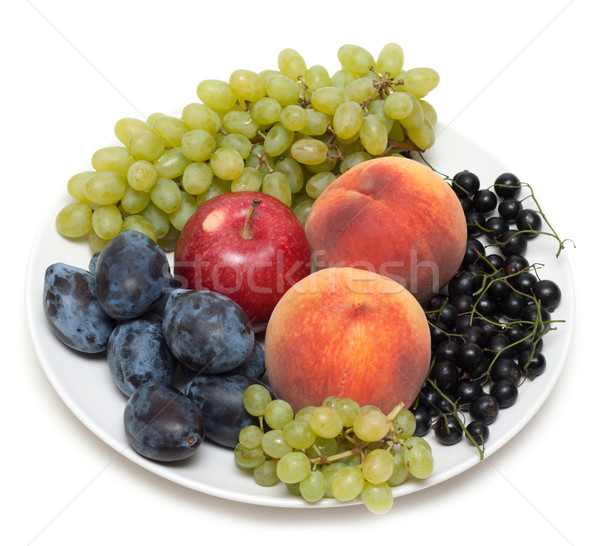 Still life, plate with fruit Stock photo © RuslanOmega