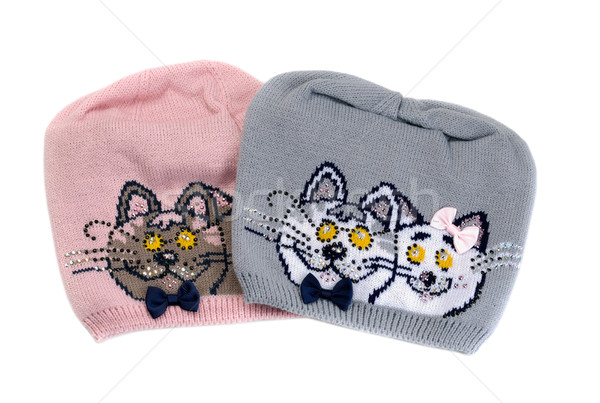 Two color knit cap with a pattern of a cat.  Stock photo © RuslanOmega
