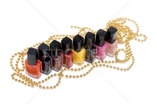 Kleur vernis nagel witte schoonheid groep Stockfoto © RuslanOmega
