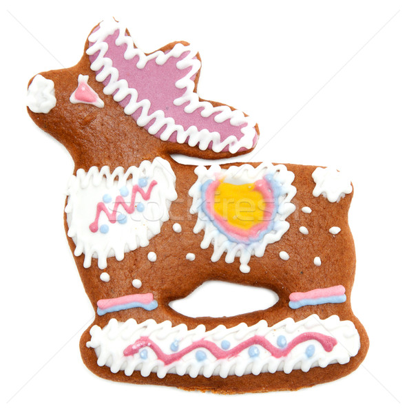 Gingerbread in form decorated by glaze of the deer Stock photo © RuslanOmega
