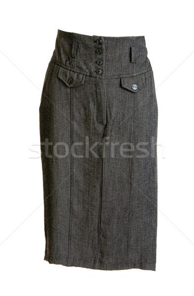 Szary kobiecy spódnica przycisk biały projektu Zdjęcia stock © RuslanOmega