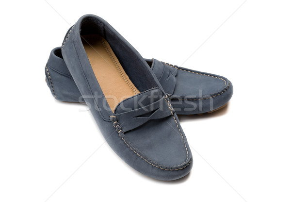 Blue, a pair of suede shoes. Stock photo © RuslanOmega
