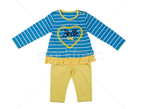 Conjunto crianças roupa branco bebê Foto stock © RuslanOmega