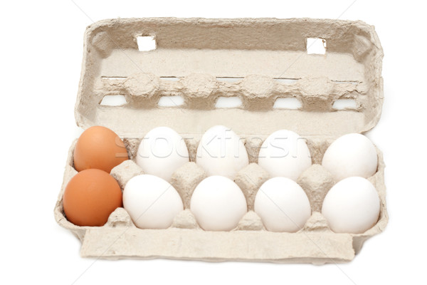 Egg in packing, groups of ten Stock photo © RuslanOmega