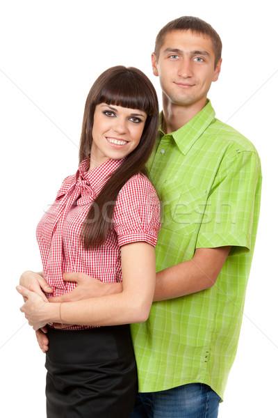 Семейный портрет пару любви цвета одежды Сток-фото © RuslanOmega