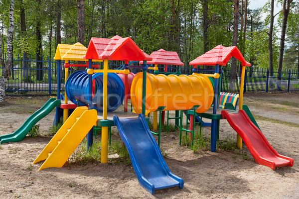 Children colorful playground in park Stock photo © RuslanOmega