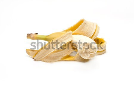 Refinado banana bocado comida natureza fundo Foto stock © RuslanOmega