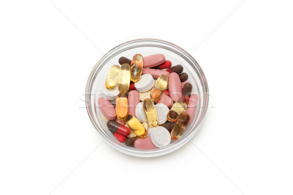Multicolored tablets and capsules Stock photo © RuslanOmega