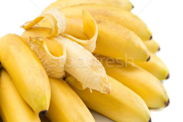 Bananas monte isolado branco abrir um Foto stock © RuslanOmega