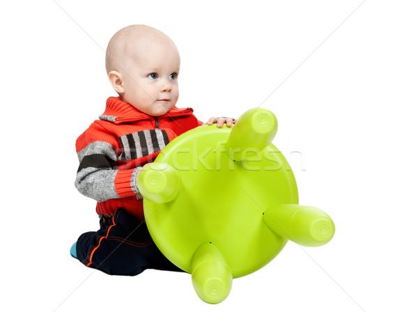 Сток-фото: мало · мальчика · пластиковых · Председатель · студию · белый