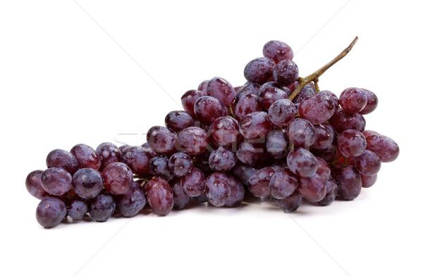 Fresh blue grape fruit on white background Stock photo © RuslanOmega
