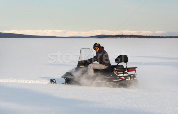 Sports d'hiver action sport nord Russie amusement Photo stock © RuslanOmega