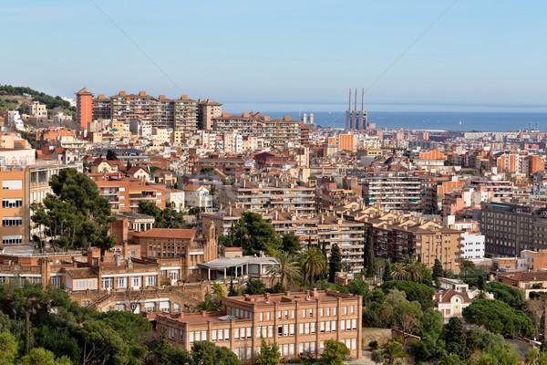 Gyönyörű kilátás Barcelona felső Spanyolország turizmus Stock fotó © RuslanOmega