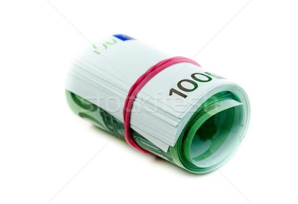 Une cent euros rouler caoutchouc Photo stock © RuslanOmega