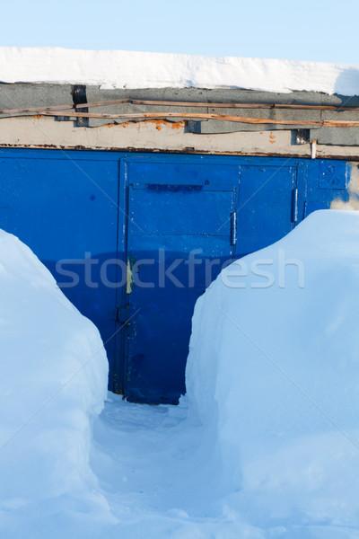 Foto d'archivio: Neve · metropolitana · blu · ferro · metal · chiave