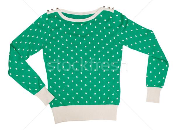 編まれた セーター パターン 水玉模様 緑 美 ストックフォト © RuslanOmega