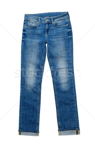 Blue Denim Jeans. Isolate on white. Stock photo © RuslanOmega